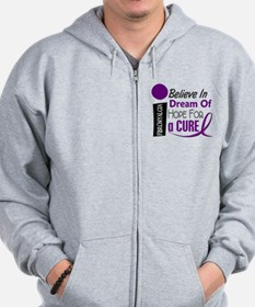 BELIEVE DREAM HOPE Fibromyalgia Zip Hoodie