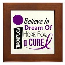 BELIEVE DREAM HOPE Fibromyalgia Framed Tile