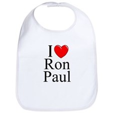 """I Love (Heart) Ron Paul"" Bib"