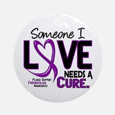 Needs A Cure Fibromyalgia Ornament (Round)