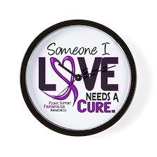 Needs A Cure Fibromyalgia Wall Clock