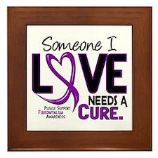 Needs A Cure Fibromyalgia Framed Tile