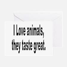 Anti-Peta Animal Humor Greeting Card
