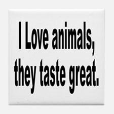 Anti-Peta Animal Humor Tile Coaster