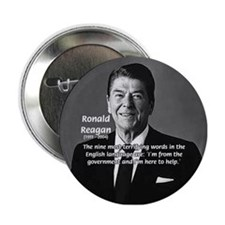 American President Reagan Button