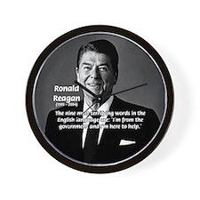 American President Reagan Wall Clock