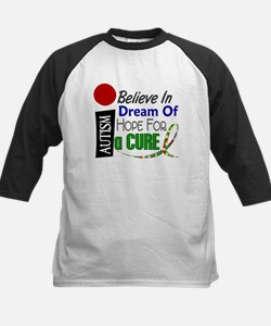 BELIEVE DREAM HOPE Autism Kids Baseball Jersey