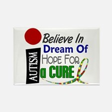 BELIEVE DREAM HOPE Autism Rectangle Magnet (10 pac
