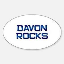 davon rocks Oval Decal