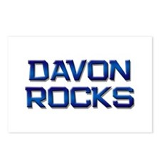 davon rocks Postcards (Package of 8)
