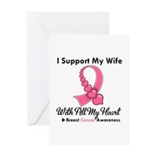 Breast Cancer Support Wife Greeting Card