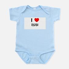 I LOVE RUBI Infant Creeper