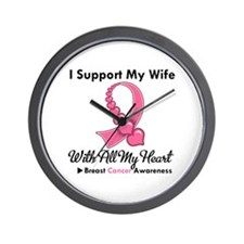 Breast Cancer Support Wife Wall Clock