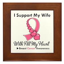 Breast Cancer Support Wife Framed Tile