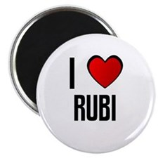 I LOVE RUBI Magnet