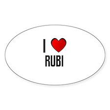 I LOVE RUBI Oval Decal