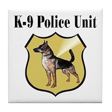 K9 Police Tile Coaster