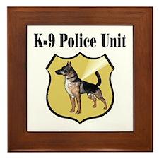 K9 Police Framed Tile