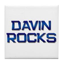 davin rocks Tile Coaster