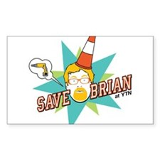 Save Brian Rectangle Decal