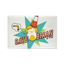 Save Brian Rectangle Magnet