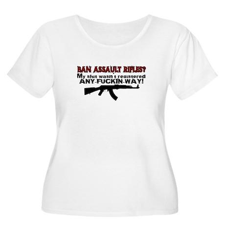 Ban Assault Rifles... Women's Plus Size Scoop Neck