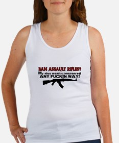 Ban Assault Rifles... Women's Tank Top