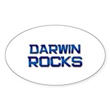 darwin rocks Oval Decal