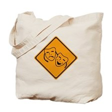 Comedy Tragedy Ahead Tote Bag