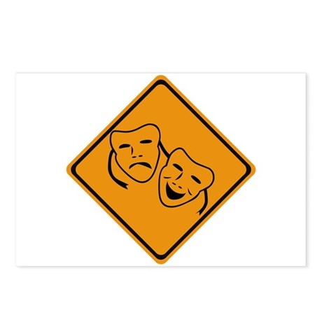 Comedy Tragedy Ahead Postcards (Package of 8)