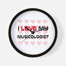 I Love My Musicologist Wall Clock
