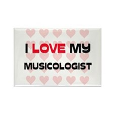 I Love My Musicologist Rectangle Magnet