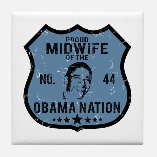 Midwife Obama Nation Tile Coaster