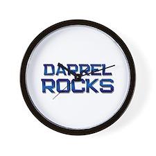 darrel rocks Wall Clock