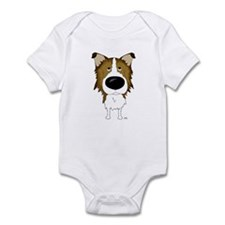 Big Nose Rough Collie Infant Bodysuit