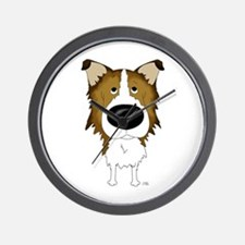 Big Nose Rough Collie Wall Clock