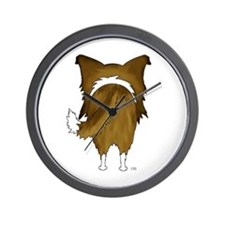 Big Butt Rough Collie Wall Clock