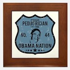 Pediatrician Obama Nation Framed Tile