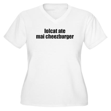 lolcat Women's Plus Size V-Neck T-Shirt