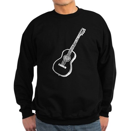 White Guitar Sweatshirt (dark)