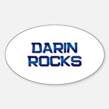 darin rocks Oval Decal