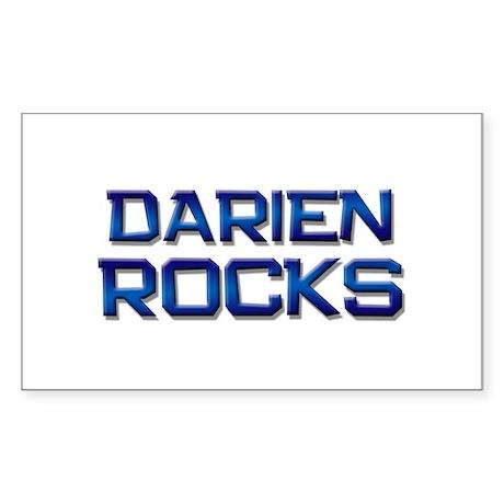 darien rocks Rectangle Sticker