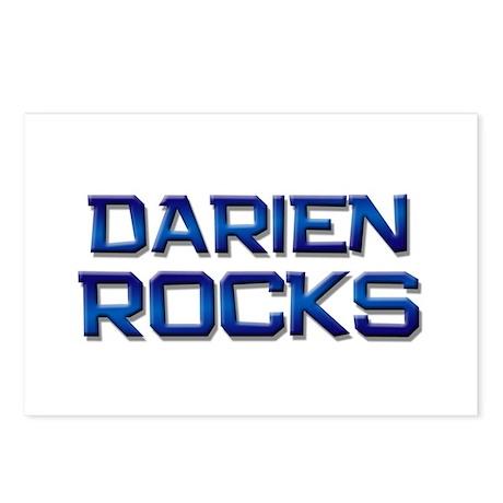 darien rocks Postcards (Package of 8)