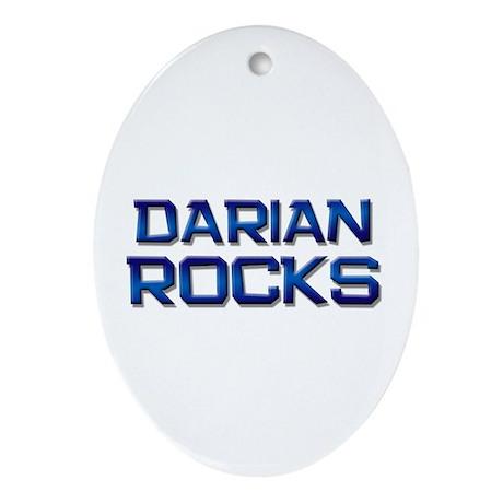 darian rocks Oval Ornament