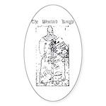 Westford Knight Oval Sticker (50 pk)
