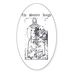 Westford Knight Oval Sticker (10 pk)