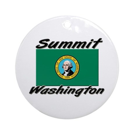 Summit Washington Ornament (Round)