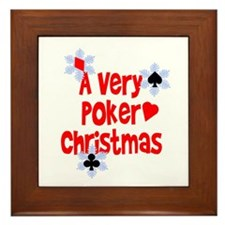 A Very Poker Christmas Framed Tile