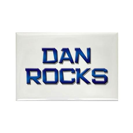 dan rocks Rectangle Magnet (10 pack)