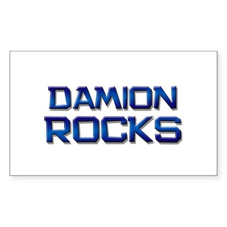 damion rocks Rectangle Sticker